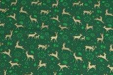 Christmas Cotton Reindeer Green 11