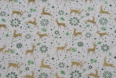Christmas Cotton Reindeer Off White 11