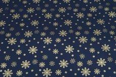 Christmas Cotton Snow Navy 10