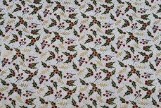 Christmas Cotton Leafs Off White 2