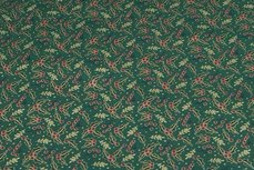 Christmas Cotton Leafs Green 2