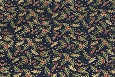 Christmas Cotton Leafs Navy 2