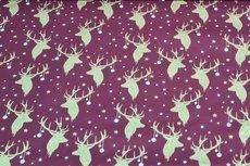 Christmas Cotton Reindeer Dark Red 4