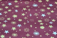 Christmas Cotton All Over Dark Red 7