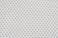 Christmas Cotton Little Star White/Silver