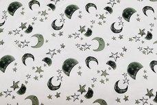 Cotton Jersey Stars & Moon Green