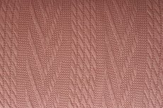 Knitted Jacquard Cable Old Pink