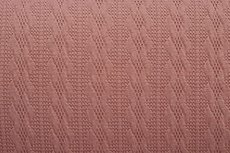 Knitted Jacquard Small Cable Old Pink