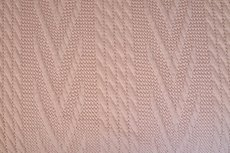 Knitted Jacquard Cable Light Pink
