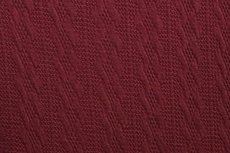 Knitted Jacquard Small Cable Bordeaux