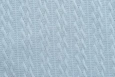 Knitted Jacquard Small Cable Light blue