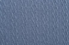 Knitted Jacquard Small Cable Old Blue