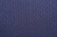 Knitted Jacquard Small Cable Navy