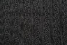 Knitted Jacquard Small Cable Black