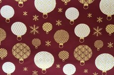 Christmas Cotton All Over Dark Red 6