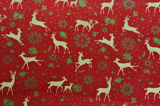 Christmas Cotton Reindeer Red 11