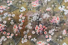 Viscose Digital Flowers Olive