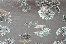 Bengaline Stretch Flowers Grey