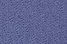 Knitted Cotton Jacquard Diamond Indigo
