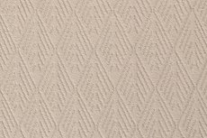 Knitted Cotton Jacquard Diamond Beige