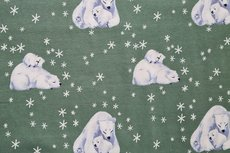 Cotton Jersey Ice Bear Old Green