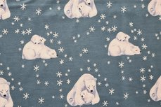 Cotton Jersey Ice Bear Old Blue