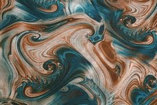 Punta Abstract Waves Petrol