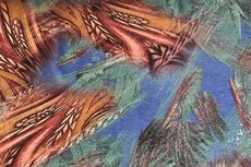 Punta Abstract Feathers Red