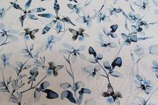 Viscose Digital Flowers Blue 3