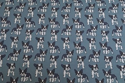 Cotton Jersey Dogs Old Blue